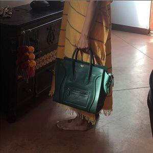 Celine Hunter Green Phantom Luggage Tote